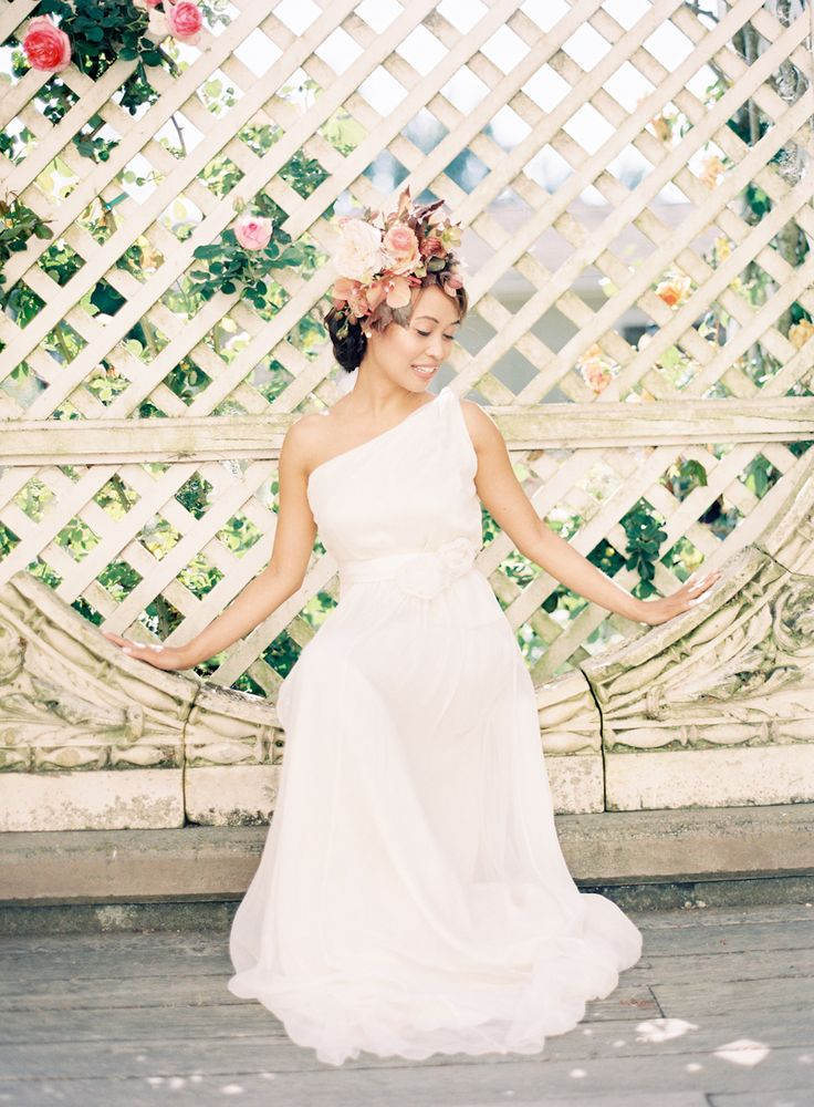 Popular Little Flower School Shoot by Jen Huang featuring Saja Wedding Dress HB See the blog