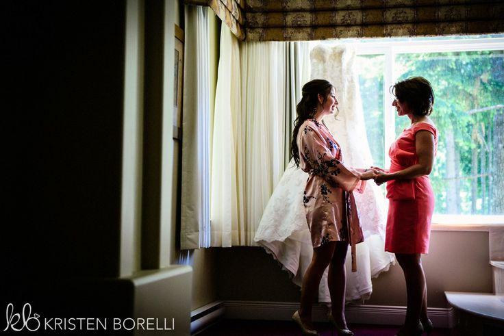 Comox Crown Isle Wedding, bride and her mother, Vancouver Island Wedding