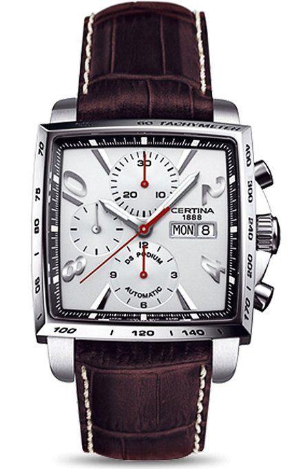 Certina  - Reloj  de Automático para Hombre, correa de Cuero color Marrón