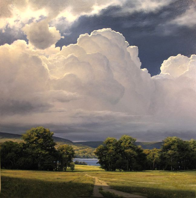 Rising Thunderhead 36 x 36 Oil on canvas by Renato Muccillo