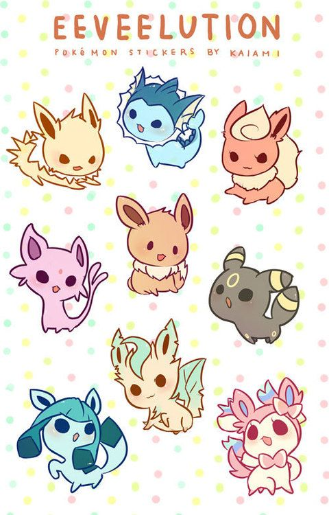 Eeveelution - This is adorable!!!! @Charity Scantlebury Scantlebury Scantlebury Scantlebury Oesch