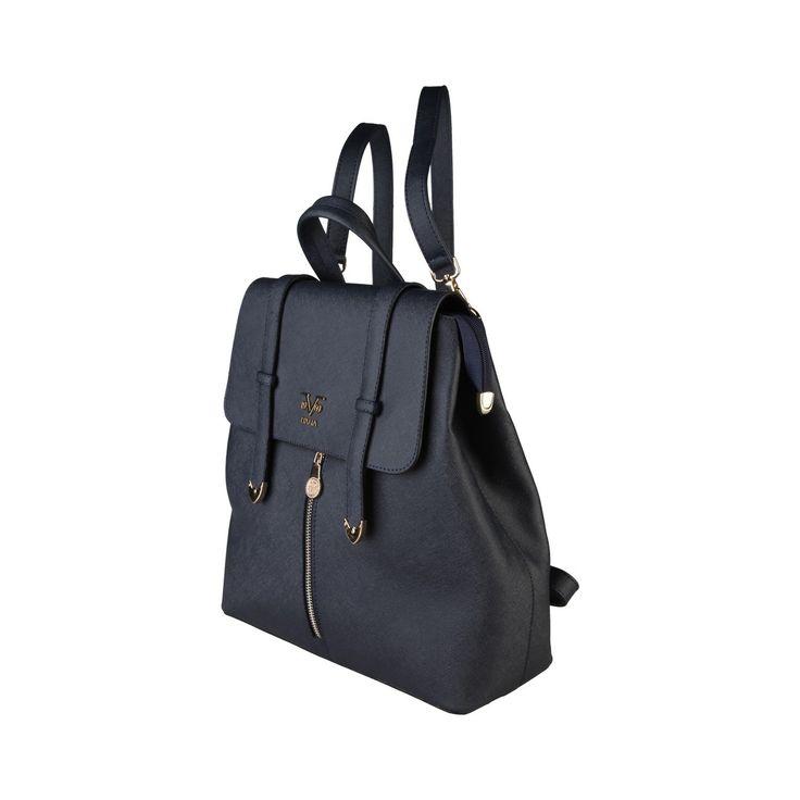 Navy eco leather backpack V 1969 - 6VHW19014