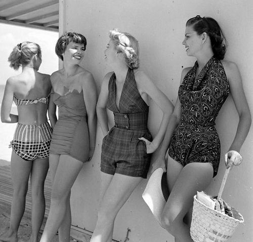 Proof That sexy doesn't have to be skanky, but something about a lean string bikini works for me. 1950 photo by Nina Leen