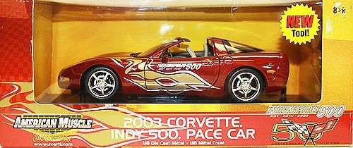 American Muscle 2003 Corvette indy 500 Pace Car 1:18 Scale Die Cast Metal Car