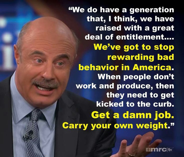 Dr. Phil telling it like it needs to be told.