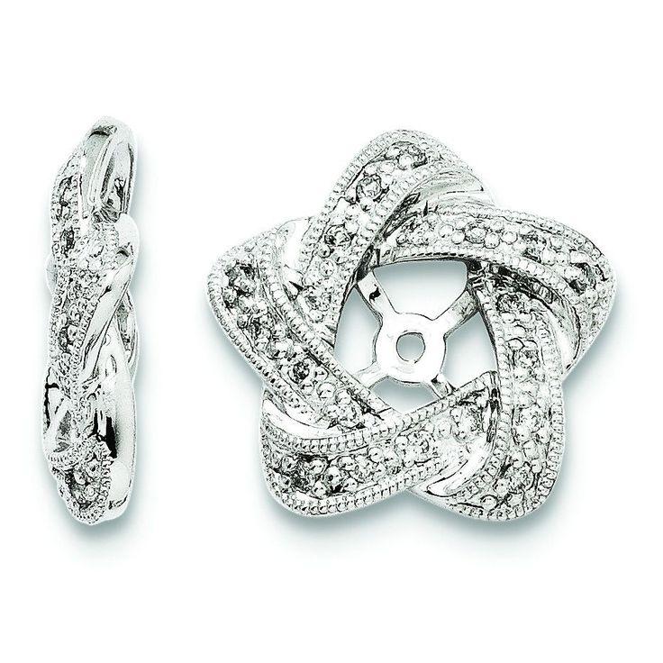 Sterling Silver Diamond Earring Jackets QJ100