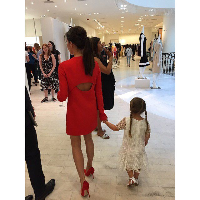 Pin for Later: The Best Celebrity Mother-Daughter Duos of 2015 Victoria and Harper Beckham