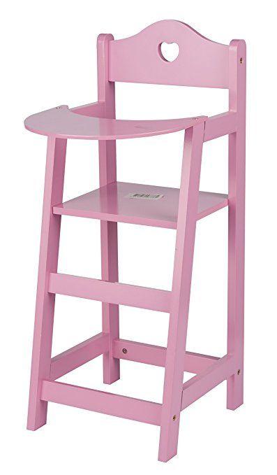My BABY and Me 48776 - Seggiolone Per Bambole in legno Con Cuore 53 x 27 x 22cm My Baby Bambine Giochi colore Rosa