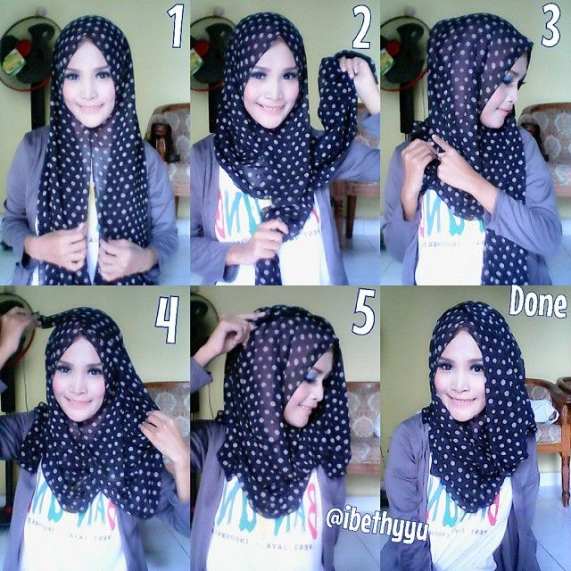 casual easy hijab...luv it !!