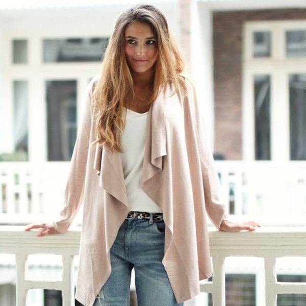 #Fashiontrends 2015    # coats   trends damesjassen voorjaar 2015   ZOOK.nl   damesjas roze voorjaarsjas - get the citylook 44,95