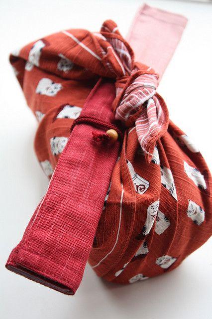 Japanese furoshiki wrapping for Bento box