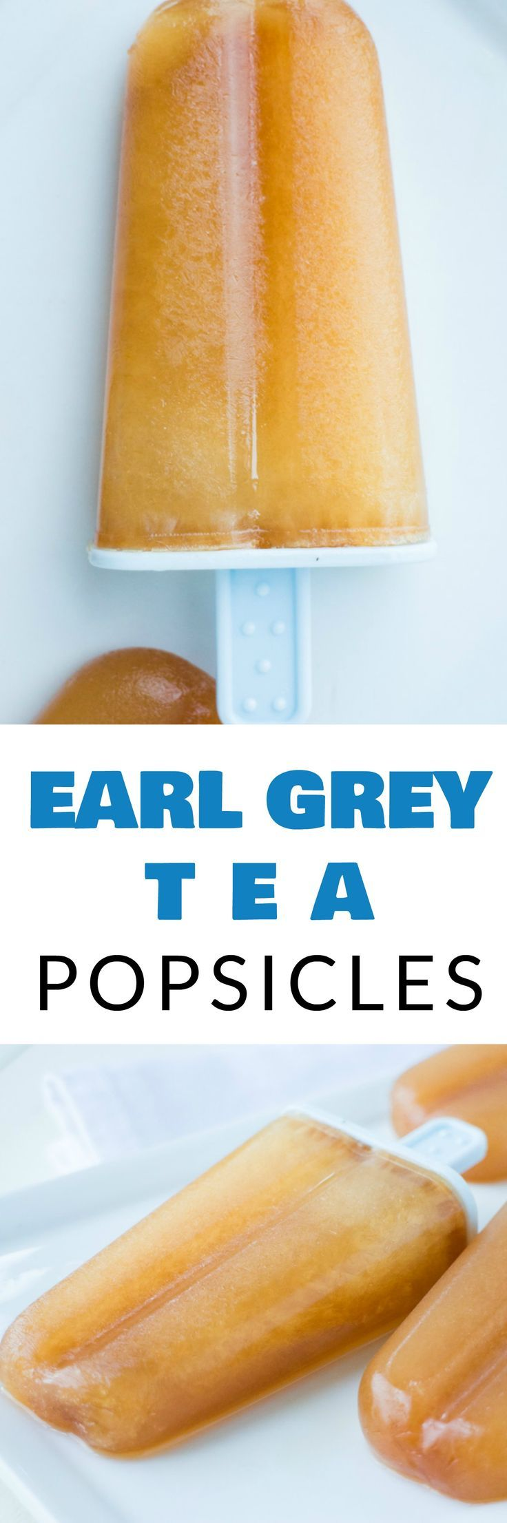EASY 25 calorie Earl Grey Tea Popsicles are the best homemade Summer dessert! These popsicles are made with 3 ingredients and are only 25 calories a piece making them a healthy popsicle! Experiment with different teas with this DIY recipe!