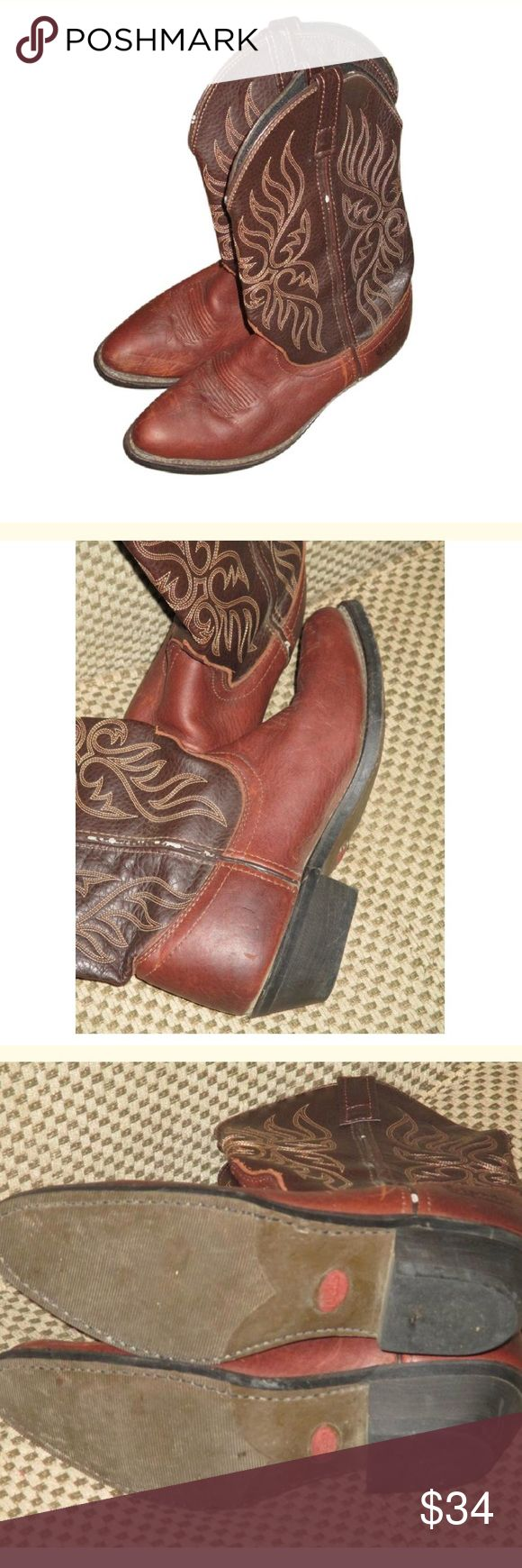 Laredo Women's Brown Cowboy Western Boots SZ 8 These are awesome!! Few scuffs but overall in great condition Laredo Shoes Heeled Boots