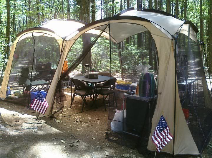 Woodalls Open Roads Forum: Camp Kitchen in a Screen House