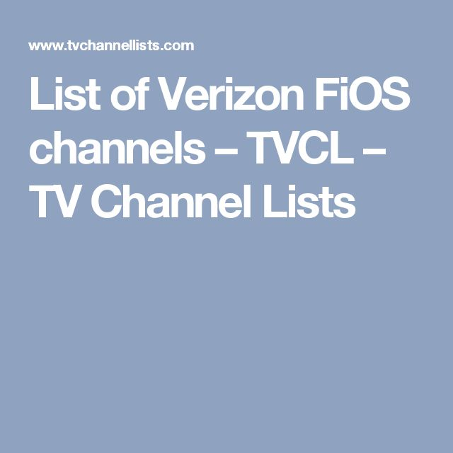 verizon fios channel list va