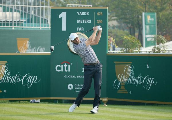 Dustin Johnson Presidents cup 2015 | Dustin Johnson Photos - The Presidents Cup - Preview Day 3 - Zimbio