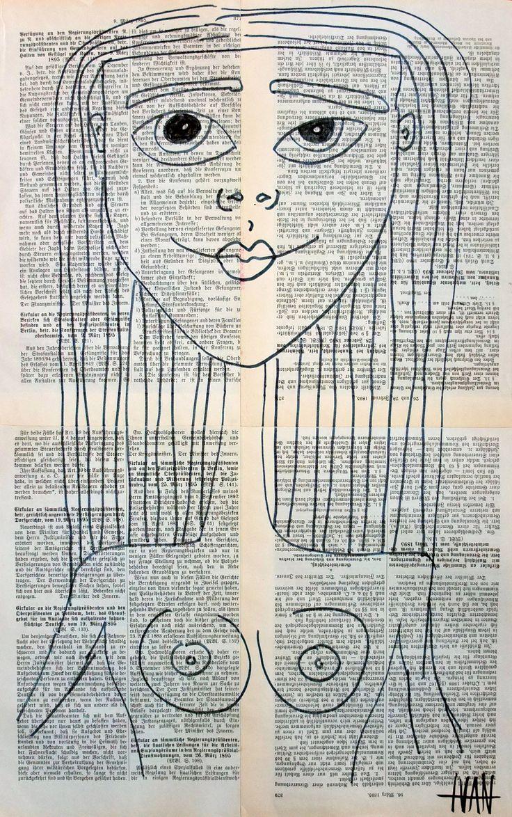 """""""Sexy Girl"""" Art Brut / Outsider Art from german artist Ivan Summersky (www.ivansummersky.com)"""