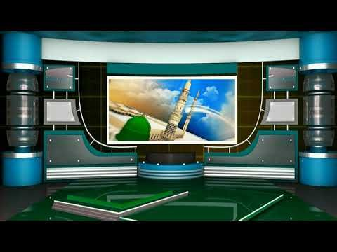 Islamic Virtual Studio Green Screen Video, TV Studio
