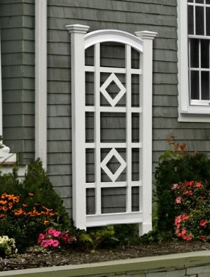 Our Milan Trellis Features Thick Side Posts With Large, Tapered Top Finials  That Are Sure