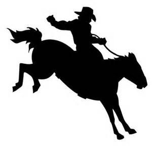 Cowboy On Bucking Horse Silhouette Saddle bronc silhouette