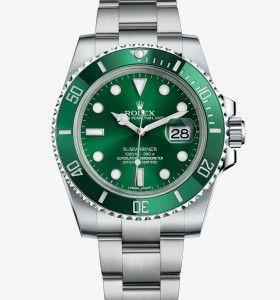 Replica Rolex Submariner 40 mm Green Dial Green Bezel Watch ref.m116610lv