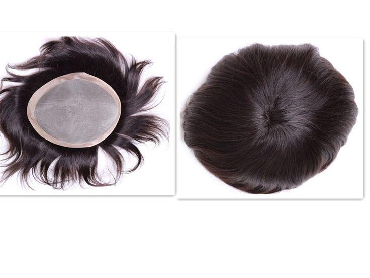 "99.75$  Buy here - http://alix2f.worldwells.pw/go.php?t=32370290537 - ""mens toupee 7""""x9"""" Mono Base Human Hair Toupee Free Style Hair System Piece Men's Toupee"" 99.75$"