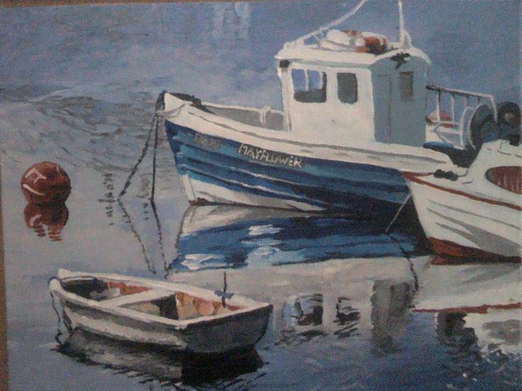 ARTWORK:(painting) Fishing with purpose