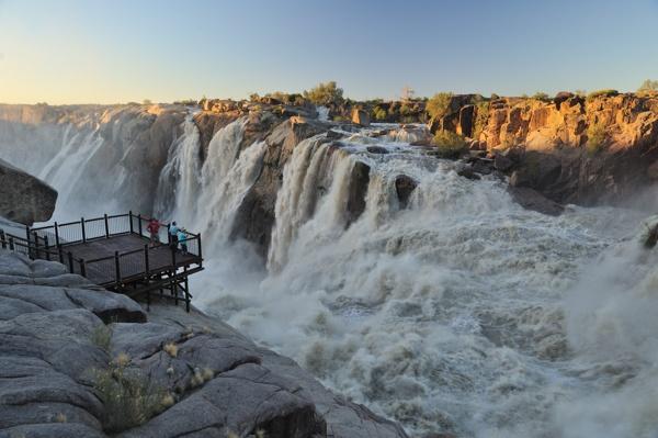 The Augrabies waterfalls in full flood