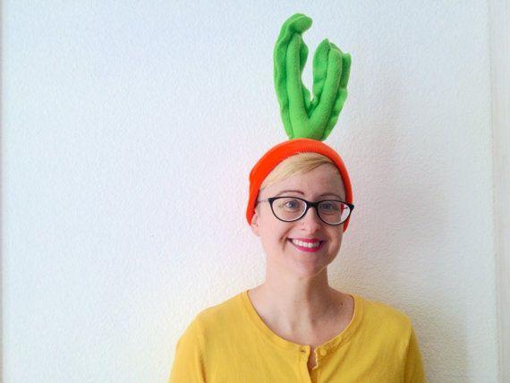 Carrot Beanie  Vegetable Costume Piece  Easy by jumbojibbles
