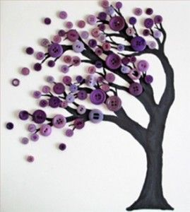 DIY Button Art Tree ~ this is so cute!