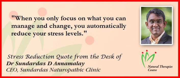 Stress Reduction Quote