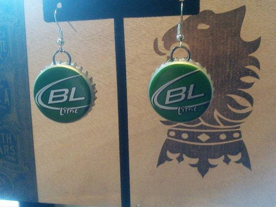 Recycled Bud Lite Lime Beer Bottle Upcycled by JewelrybyBLink
