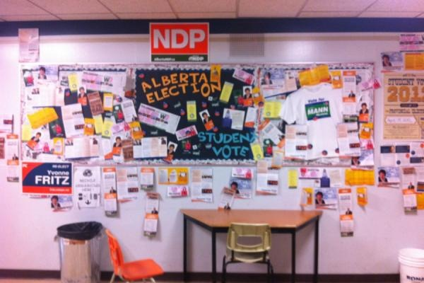 A Student Vote school's collage.