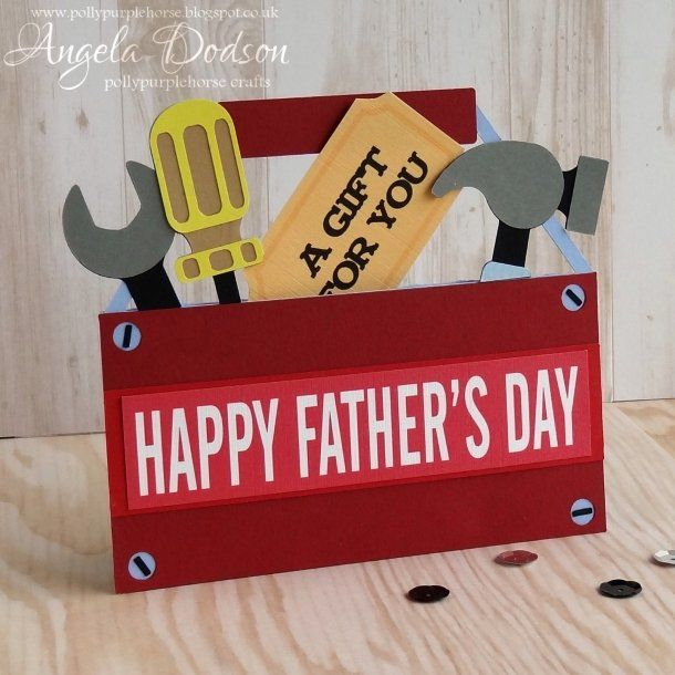 Father's Day Tool Box Gift Card Holder | papermilldirect
