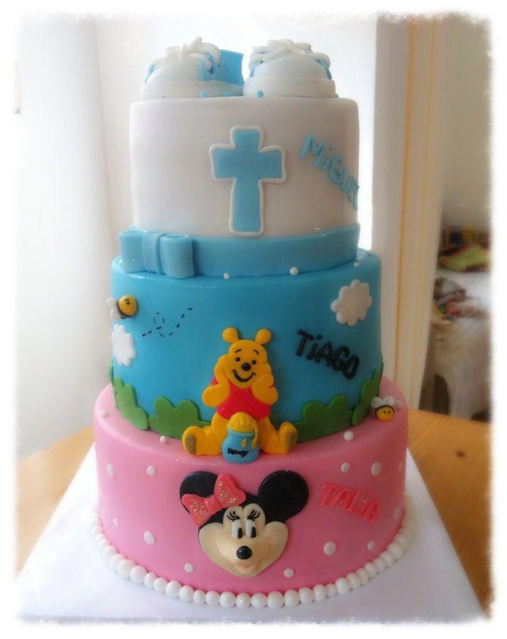 """Drei """"Fliegen"""" mit einer Klappe :))) Zur Taufe eine 3-stöckige Torte"""