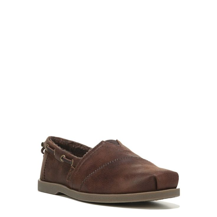 Skechers Women's Bobs Chill Luxe Wide Slip On Shoes (Brown) - 8.0 W