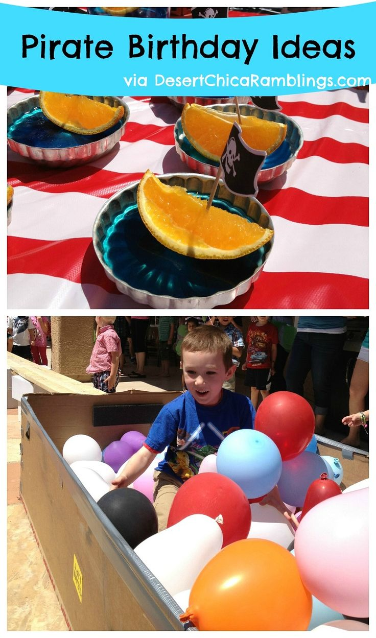 Pirate Party Fun would be fun to fill a fridge box with pirate loot and balloons and have kids search for the loot!
