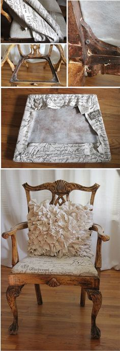Old chairs with a French twist | Jennifer's Mentionables