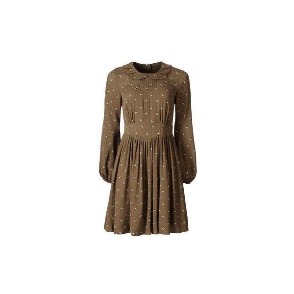Орла Кили | Великобритания | одежда | платья ❤ liked on Polyvore featuring dresses, orla kiely dress, brown dress and orla kiely