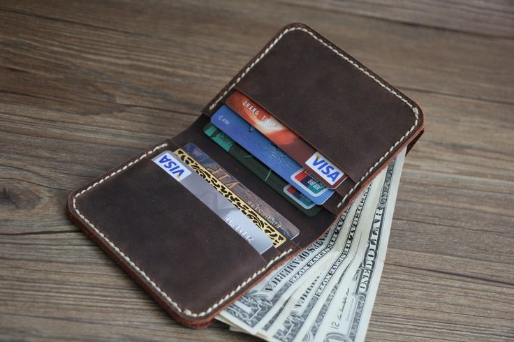 Rustic Distressed Leather Wallets, Short Wallets, Card Slots, Credit Card Holder, Cash Carrier, Bill Holder, Rocky Leather Design® by RockyLeatherDesign on Etsy