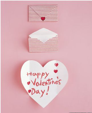 Now even we could make this valentine's card craft. Sweet.