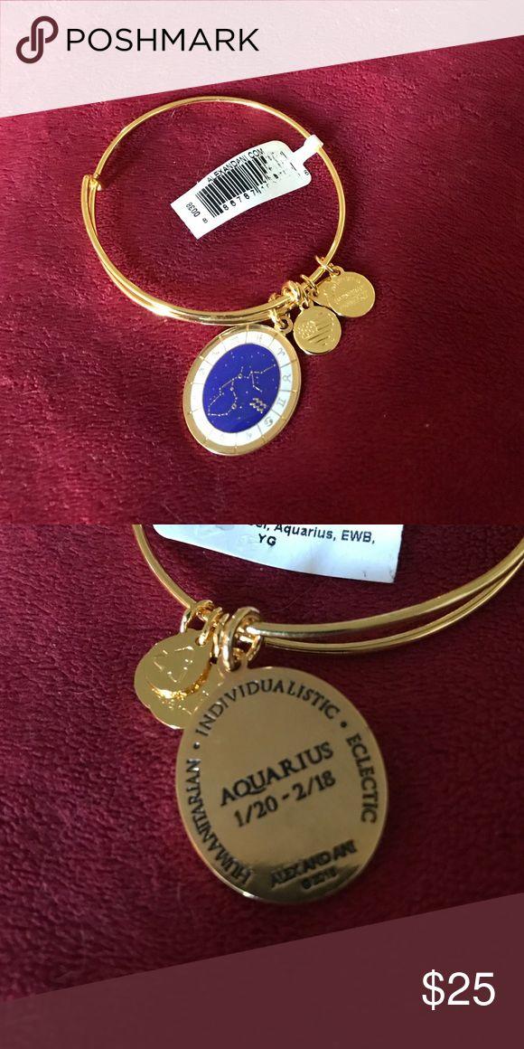 Alex and Ani shiny gold bracelet Alex and Ani shiny gold Celestial Wheel Aquarius bracelet. New with retail tags Alex & Ani Jewelry Bracelets
