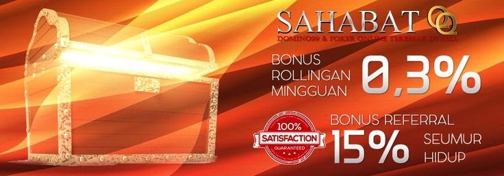 SahabatQQ berbagi bonus kepada semua member http://sahabatqq.casino