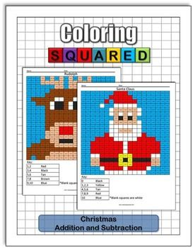 Christmas Coloring: Addition and Subtraction | Math facts ...