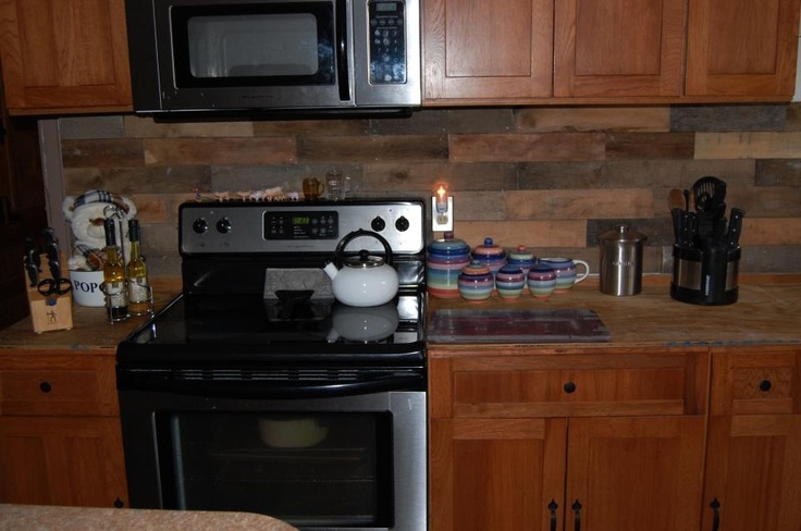 wood backsplash kitchen 16 best images about pallet back splash on 15464
