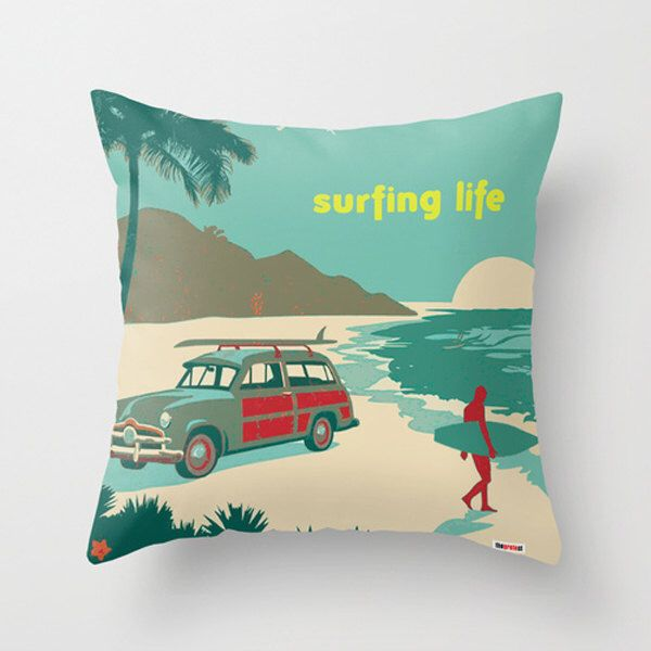 pillow cover - Surf pillows- Contemporary pillow case - Boyfriend gifts - Beach pillow case - Vintage pillow - Surfing pillow by TheGretest on Etsy https://www.etsy.com/listing/163577034/pillow-cover-surf-pillows-contemporary