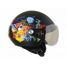 Casque Nexx X60 CoolKids Noir - Speedway #Casque #Speedway #enfant #noir #moto #scooter