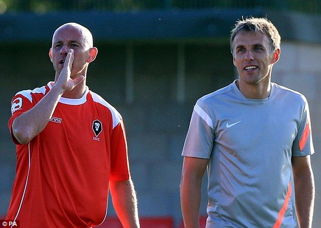 Ambition: Former Man United stars Phil Neville and Nicky Butt plan to guide Salford City to the Football League