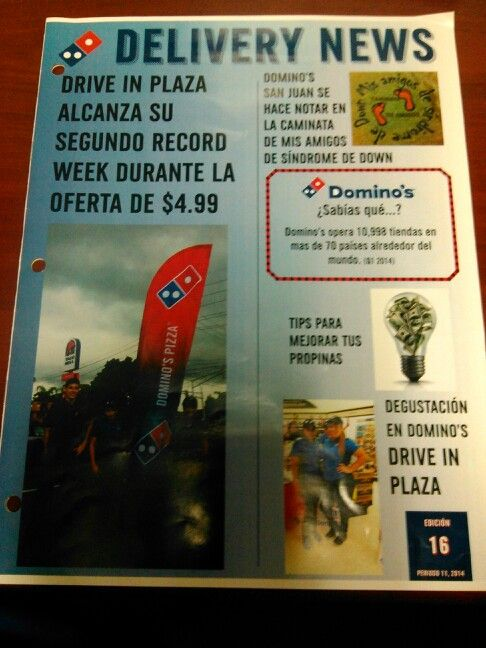 Revista de Dominos Pizza Puerto Rico