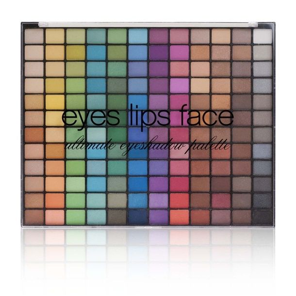 E.L.F.144 Piece Eyeshadow Palette in Bright  colors.  I bought the natural palette from Target during the holidays for $15 and picked up this one last week for 50% off.  Their shadows are actually pretty good!!